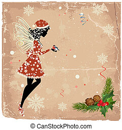 Christmas fairy for your design