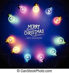 Christmas Fairy Lights - Seasonal decorations with colourful...