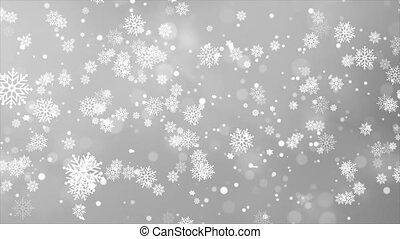 Christmas falling snow White isolated on Clean loop background.