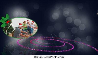 Christmas family spiral animation - Christmas family...