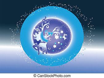 Christmas fantasy vector background