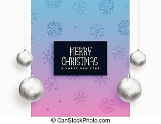 christmas festival background with silver balls