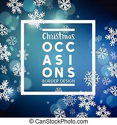 Christmas festive background border design