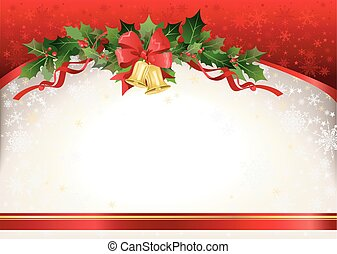 Christmas festive  background with bells