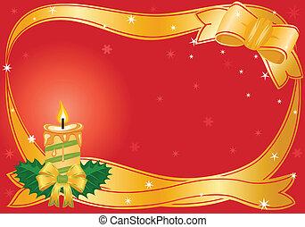 Christmas festive candle