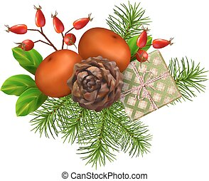 Christmas Festive Decoration - Christmas vector festive ...