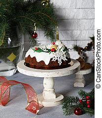 christmas festive fruit cake for dessert