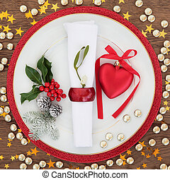 Christmas Festive Place Setting
