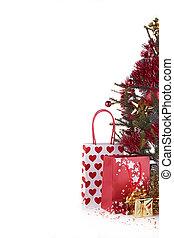 christmas fir and presents
