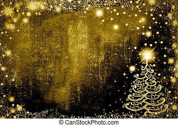 Christmas  fir cards, copy space.