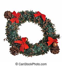 Christmas fir ring decoration.