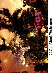 christmas fir tree angel