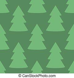 Christmas fir tree green art seamless pattern