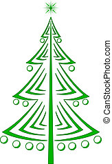 Christmas fir-tree, pictogram - Christmas fir-tree,...