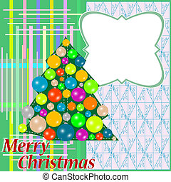 Christmas fir tree with colorful balls decorations