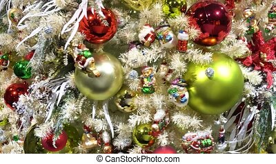christmas fir tree with decorations