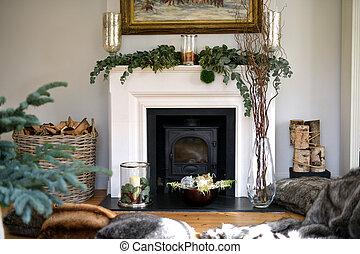 Christmas fireplace