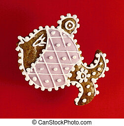 Christmas fish made by gingerbread