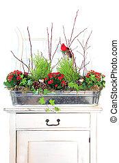 Christmas floral arrangement