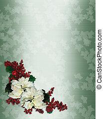 Christmas floral corner design