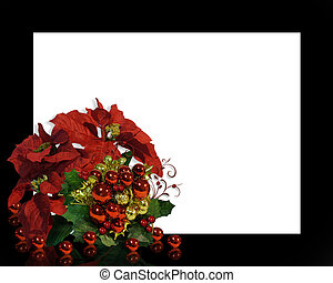 Christmas Floral Frame - Image and Illustration composition...