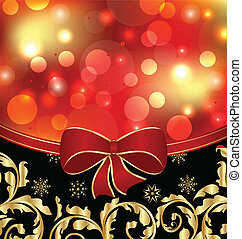 Christmas floral ornamental decoration for design packing