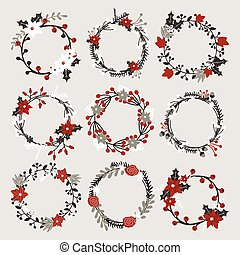 Christmas Floral Wreaths Collection