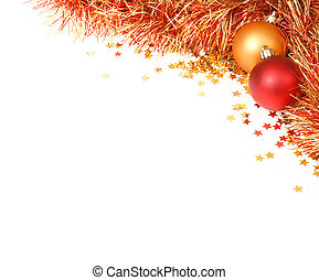 Christmas flourish - White space with a Christmas design in...
