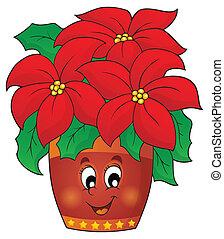 Christmas flower theme image 1