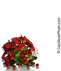 Christmas Flowers Background