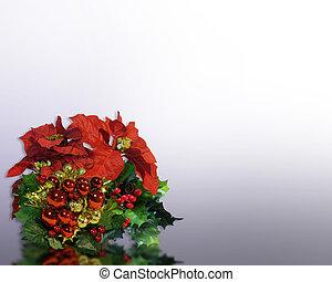 Christmas Flowers corner design