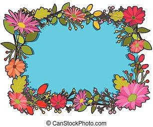 Christmas Flowers Frame Design