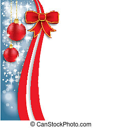 Christmas Flyer Oblong Red Ribbon