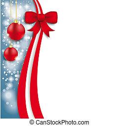 Christmas Flyer Oblong Red Ribbon - Christmas flyer design...