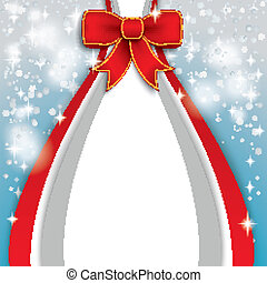 Christmas Flyer Red Ribbon
