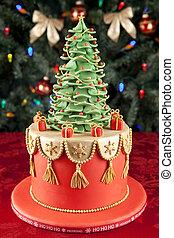 Christmas fondant cake