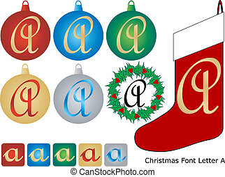 Christmas Font Letter A