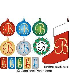 Christmas Font Letter B