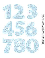 Christmas font with snowflakes - ABC. Colorful Christmas ...