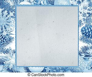 Christmas frame and gift card.