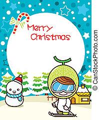 Christmas Frame Background 2