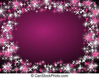 christmas frame background purple