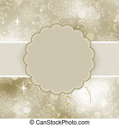 Christmas frame design for xmas card. EPS 8