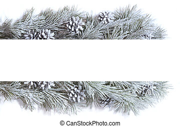 Christmas frame - frame made of fir branches