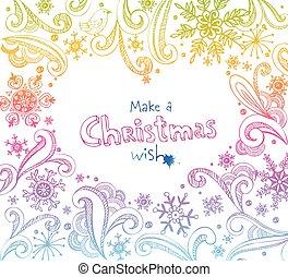 Christmas frame.