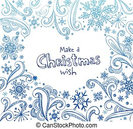 Christmas frame. - Frame with place for your text in heart...