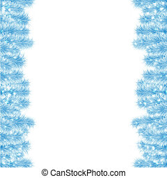 christmas frame from blue tree #2
