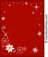 Christmas Frame on Red