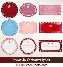 christmas frame set design. vector