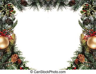 christmas frame - white background